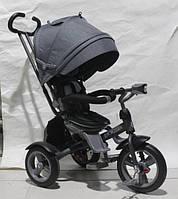 Детский трехколесный велосипед  Crosser T- 503 ECO AIR , серый