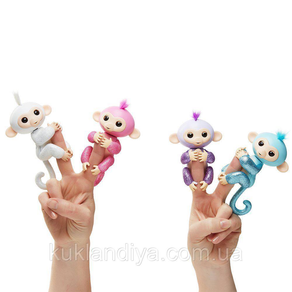 Інтерактивна глитерная мавпочка асортимент Fingerlings Фингерлингс Бейбі