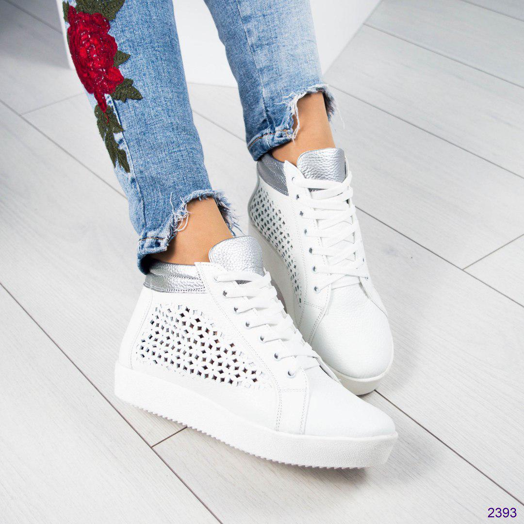 7d05241a Кеды женские высокие с перфорацией белые, цена 925 грн., купить в Каменском  — Prom.ua (ID#628483749)