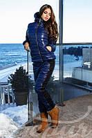Спортивный стеганные костюм синий