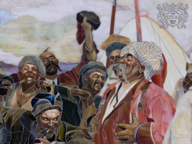 репродукция картины Ильи Репина Запорожцы