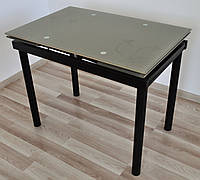 """Стіл скляний обідній розкладний Maxi DT TR В  900/600  беж """"лілія"""""""