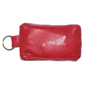 Ключница-футляр BagHouse натуральная кожа красная 7,5х4 см фф7кр, фото 2