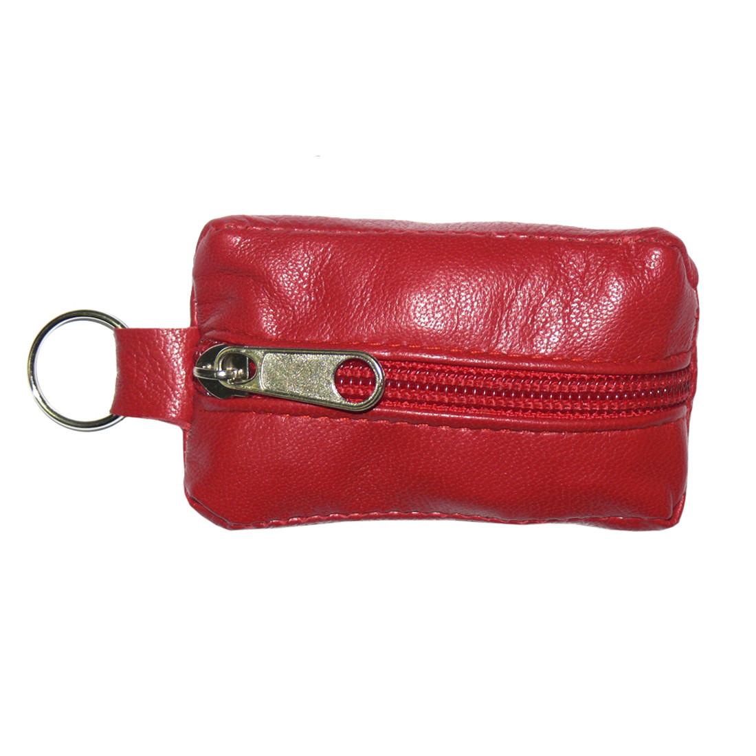 Ключница-футляр BagHouse натуральная кожа красная 7,5х4 см фф7кр