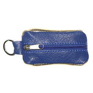 Ключница-футляр синяя BagHouse из натуральной кожи 7,5х4 см  фф7син, фото 2
