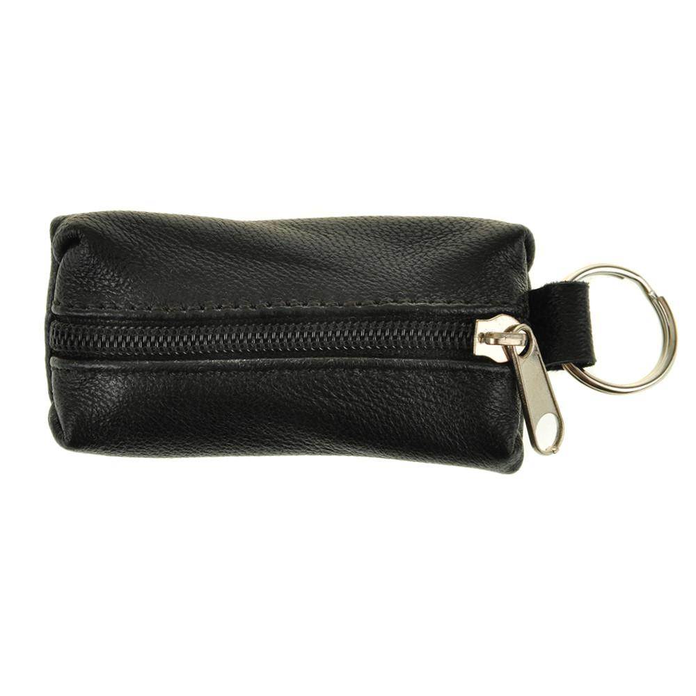 Ключница-футляр BagHouse из натуральной кожи чёрная 7,5х4 см  фф7ч