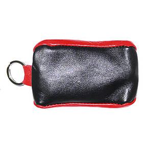 Ключница-футляр из натуральной кожи BagHouse чёрно-красная 7,5х4 см  фф7ч кр, фото 2