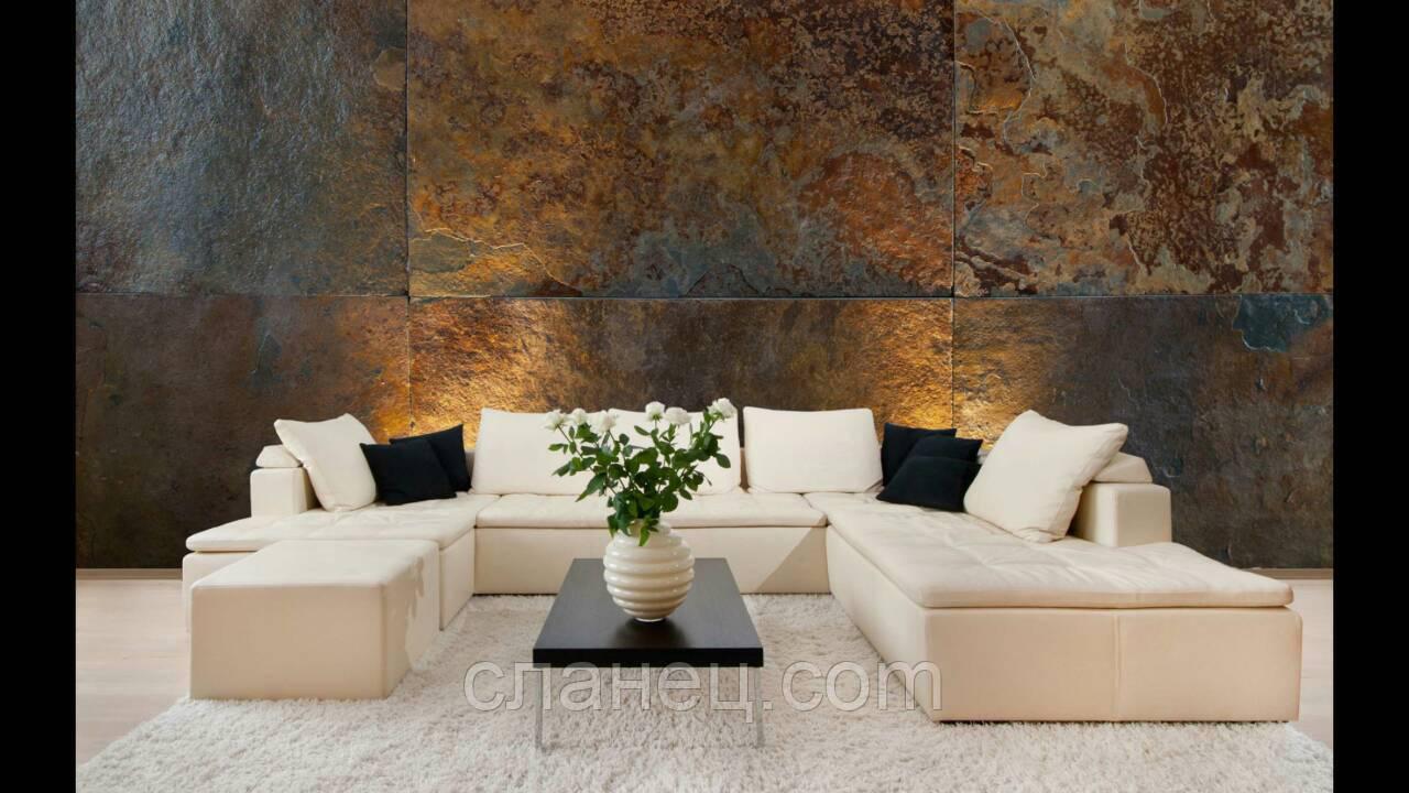 Сланец ржавчина-серый больших размеров до 150х50х3 см