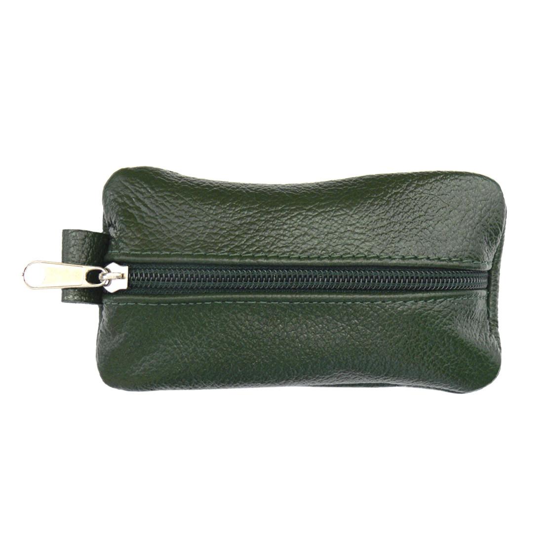 Ключница BagHouse плоская, зелёная из натуральной кожи 13х7,5 см клп13 зел