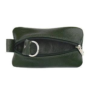 Ключница BagHouse плоская, зелёная из натуральной кожи 13х7,5 см клп13 зел, фото 2
