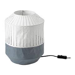Настольная лампа IKEA MAJORNA 32 см белая серая 103.238.58
