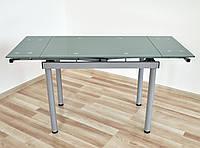 Стіл скляний обідній розкладний Maxi DT TR G 900/600 сірий , фото 1
