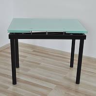 """Стіл скляний обідній розкладний Maxi DT TR В  900/600  """"сірий"""" , фото 1"""