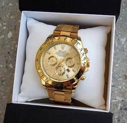 Часы мужские Rolex Daytona золотистые 2 вида из сериала Физрук ЖИВЫЕ ФОТО 73565 Реплика Качество!