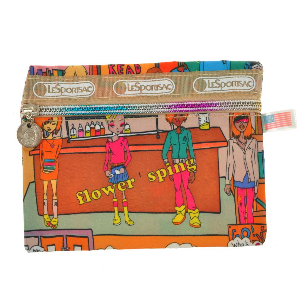 Сумочка-гаманець жіночий BagHouse кольорова 17х12 тканина нейлон до 7
