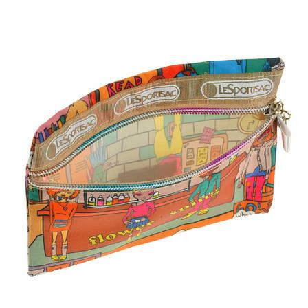 Сумочка-гаманець жіночий BagHouse кольорова 17х12 тканина нейлон до 7, фото 2