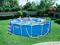 Каркасный бассейн Bestway круглый 457х107 см, фото 1