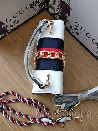 Сумочка Gucci белая, фото 3