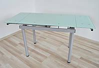 Стіл скляний обідній разкладний Maxi DT TR G 900/600 білий, фото 1