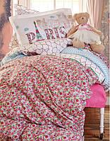Комплект постельного белья 1,5 с простыней Пике Karaca Home MELOSA