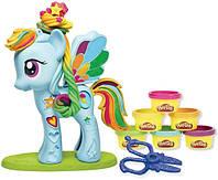 Детский пластилин Тесто для лепки набор Пони My Little Pony (14*19,6*6см)