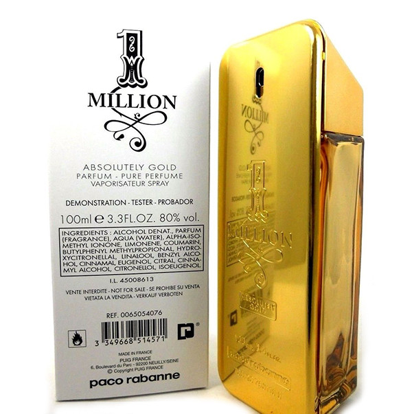 Парфюмированная вода (тестер) Paco Rabanne 1 Million Absolutely Gold 100мл