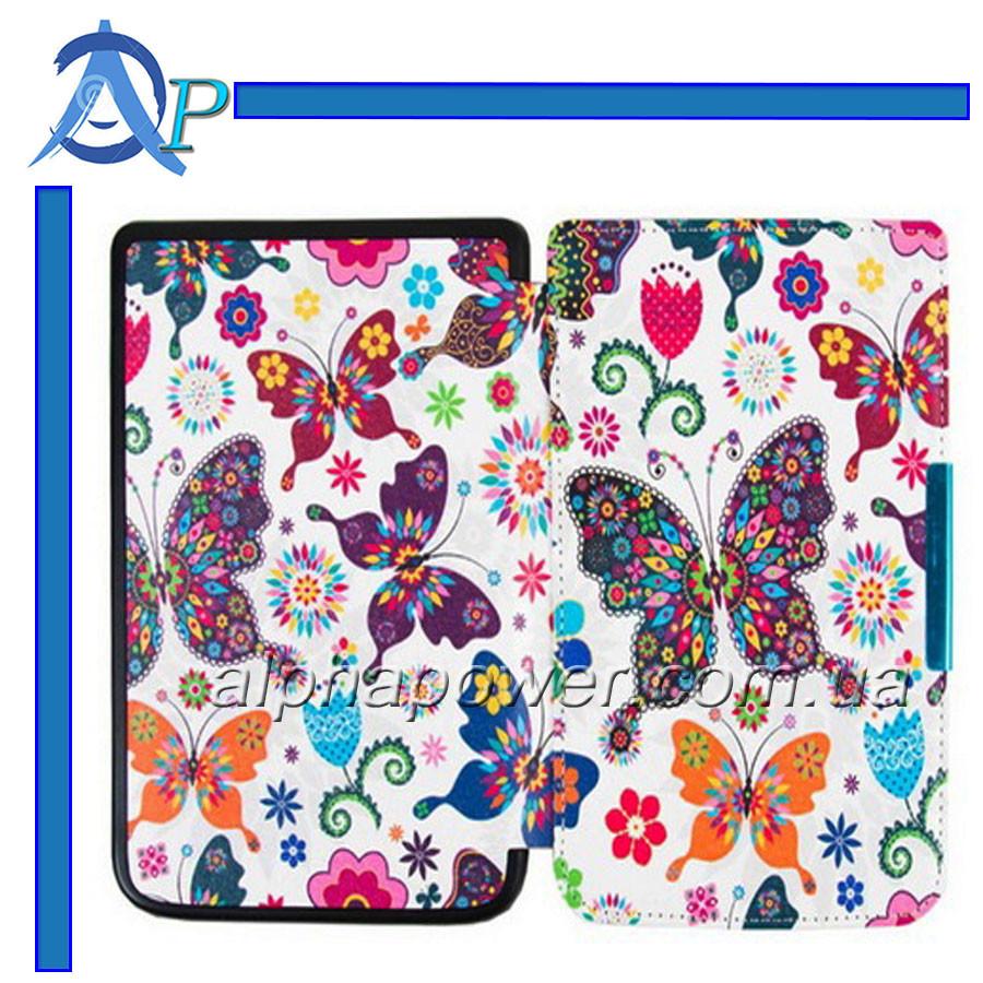 Обложка (чехол) для электронной книги PocketBook 614/615/624/625/626/Touch Lux 3 с графикой Бабочки