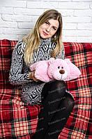 Подушка-трансформер Мишка 36\38 см розовый
