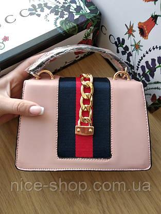 Сумочка Gucci mini пудровая, фото 3
