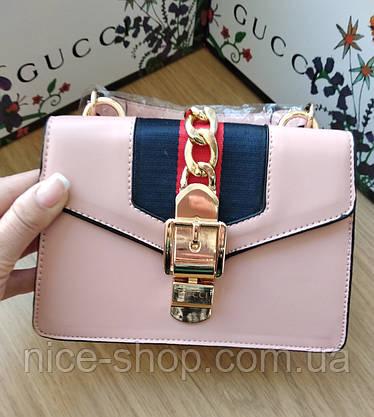 Сумочка Gucci mini пудровая, фото 2