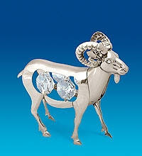 Статуэтка овечка символ года 2015 с камнями сваровски