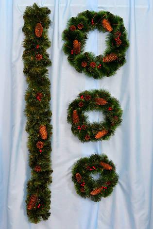Веночек рождественский с шишками, фото 2