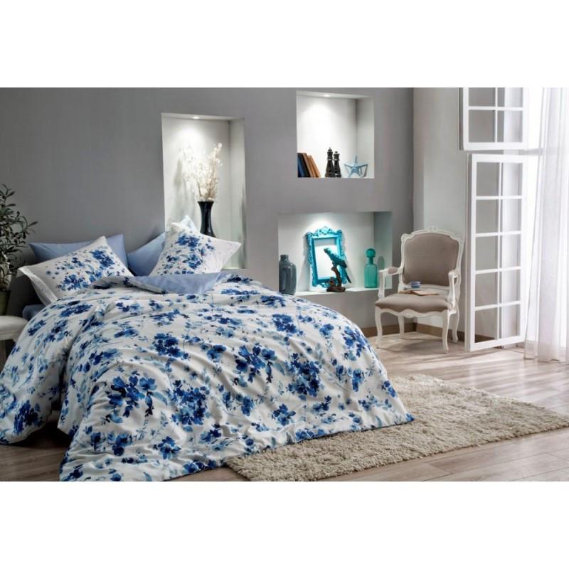 Постельное белье Тас сатин Digital - Farida синий семейное