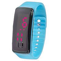 Универсальные Lesko LED часы голубые наручные для активного отдыха спорта компактные с ярким дисплеем