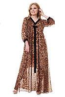 Нарядное длинное летнее платье из шифона