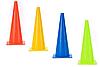 Фишка для разметки дистанции в форме конуса 38 см желтая , фото 2