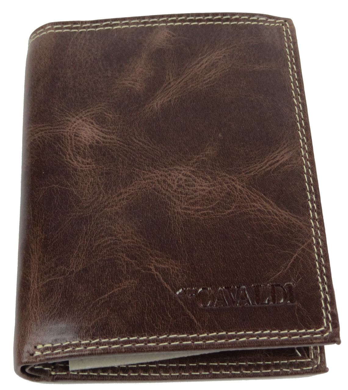 Мужское кожаное портмоне ALWAYS WILD SPRM034 Brown коричневый