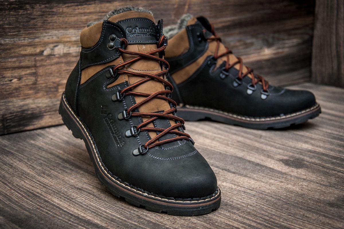b536a0651b54 Стильные мужские зимние ботинки Columbia (Коламбия) черного цвета 40 р. -  реплика