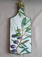 """Деревянная разделочная доска ручной работы для кухни """"Оливка"""""""