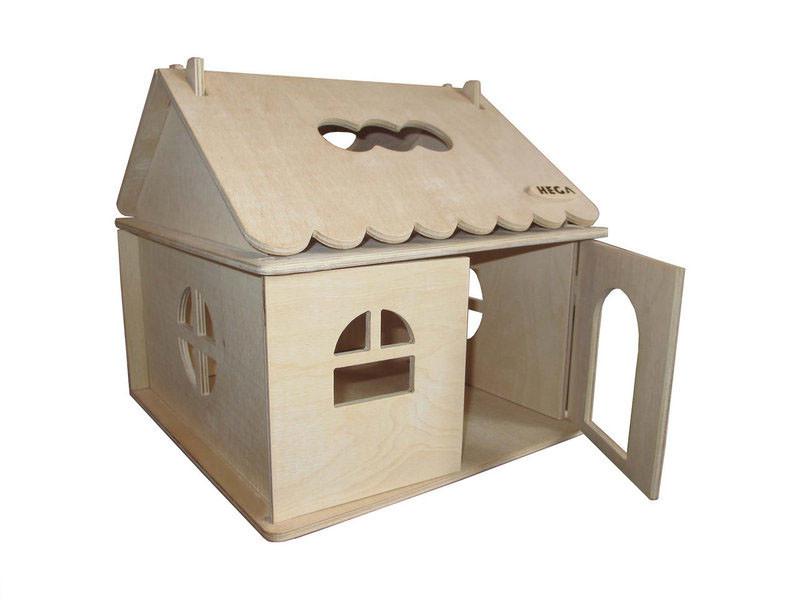 Деревянний домик  Hega  для раскрашивания кукольный игровой для барби лол (040)