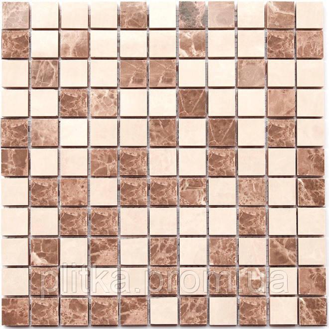 Мозаика СМ 3023 C2 beige/white 30x30