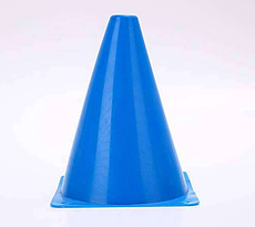 Фишка для разметки дистанции в форме конуса 18 см синий
