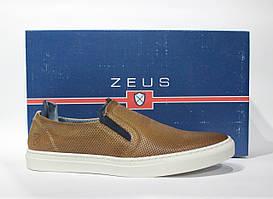 Шикарные кожаные слипоны Zeus, Оригинал