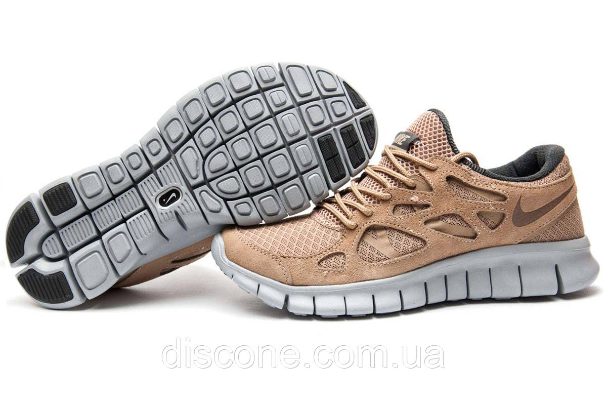 3c8b02b5 Кроссовки мужские Nike Free Run 2+, коричневые (13443), р. [ 41 44 ...