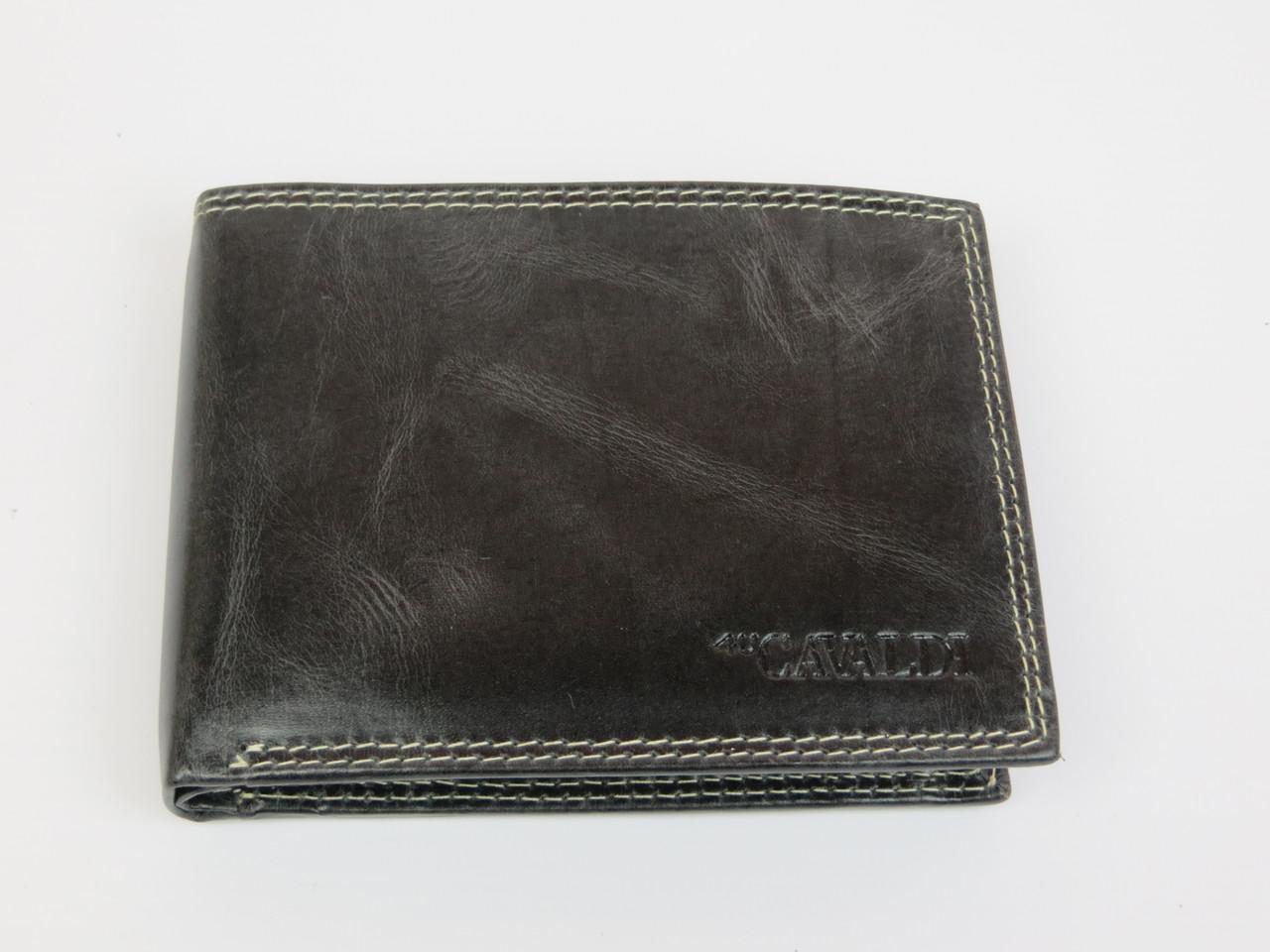 Мужское кожаное портмоне ALWAYS WILD SPRM032 Black черный