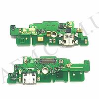 Шлейф (Flat cable) Huawei Mate 7 с разъемом зарядки,  антенной и компонентами