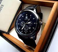 Часы мужские кварцевые GRAND Carrera 3 вида All Black Tag Heuer Carrera под Tissot (копия) Реплика Качество!