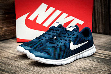Кроссовки мужские Nike Free Run 3.0, темно-синие (2471-3),  [   43  ]
