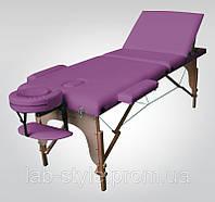 Массажный стол SOL Comfort Трехсекционный полиуретановый деревянный Доставка бесплатно!!!