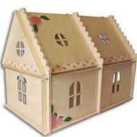 Кукольный домик Hega с росписью 2эт.  (069)